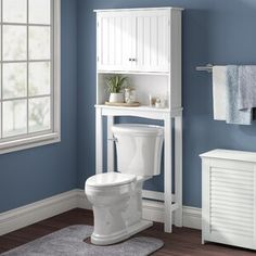 null Utilize over-the-toilet space to hide bathroom essentials and display favorite décor pieces in the classic space saver. The cabinet doors include inset beadboard styling and mirrored door knobs create a fresh and versatile look. Over Toilet Storage, Toilet Shelves, Small Bathroom Storage, Extra Storage Space, Storage Shelves, Storage Spaces, Shelving, Storage Cabinets, Linen Cabinet