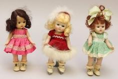 "Lot Of (3) 8"" 1950's Hard Plastic Dolls: Ginny &"