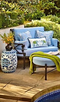 Garden stool, poolside