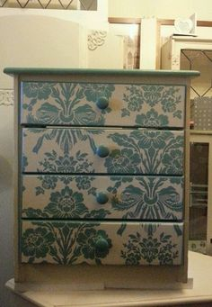 SHABBY CHIC BEDSIDE DRAWERS / SET OF 4 DRAWERS IN ANNIE SLOAN & LAURA ASHLEY | eBay