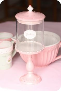 Cupcake pedestal stands, mugs and bowls.  Perfect to place for sale on a display or to highlight new flavors for sale.