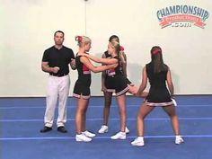 Winning it All! Volume 2 – The Basics for Partner Stunts & Transitions – Cheerleading — Championship Productions, Inc. Winning it All! Volume 2 – The Basics for Partner Stunts & Transitions – Cheerleading — Championship Productions, Inc. Easy Cheer Stunts, Cheerleading Videos, Cheer Jumps, Cheerleading Cheers, Cheerleading Stunting, Cheerleading Flexibility, College Cheerleading, Volleyball Drills, Volleyball Quotes