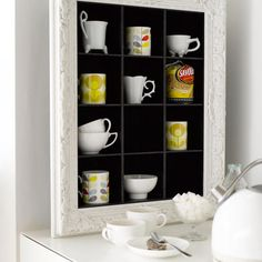 Small Kitchen Organizing Ideas - CD Storage Unit for Cups - Click Pic for 42 DIY Kitchen Organization Ideas & Tips Cd Storage Units, Mug Storage, Diy Kitchen Storage, Kitchen Shelves, Kitchen Organization, Kitchen Decor, Storage Ideas, Shelving Ideas, Storage Solutions