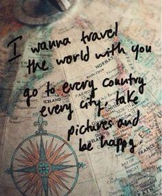 I wanna travel with u