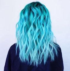 Check Out Our , Cheveux Turquoises Hair In Sky Blue Hair Bluehair Dollhaircostume Doll Hair In Teal Hair Using Pravana Vivids Hair Color. Pretty Hair Color, Beautiful Hair Color, Hair Color Purple, Hair Dye Colors, Ombre Colour, Ombre Green, Vivid Hair Color, Light Blue Hair Dye, Dyed Hair Blue