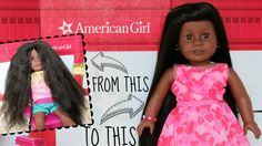 Learn how to straightening your American Girl Doll's hair. This doll craft is fun and easy to do. We teach you how to make your dolls hair straight and shiny. American Girl Hairstyles, Boy Hairstyles, Straight Hairstyles, Cosas American Girl, American Girl Crafts, Doll Crafts, Diy Doll, Girls Bean Bag, Girl Dolls