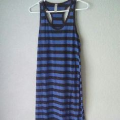 Stiped, racerback maxi dress Size large but fits like Med. Akle length. Worn only once. Super soft! Hot Lixx Dresses Maxi