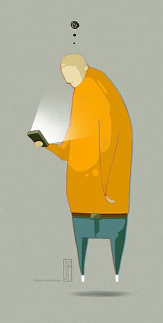 Smartboy? - JP - 2014  khynn.tumblr.com  #illustration #smartphone #digital