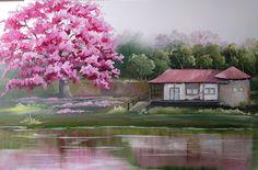 AnTocacelli - Artes, Artesanato e Design.: Paisagem....Pintura em tela...minha grande paixão....