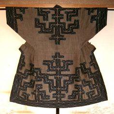 AINU CICARACARPE EMBROIDERED KIMONO ・ アイヌのチカラカラペ刺繍着物