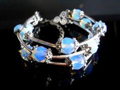 Moonstone bracelet Opal Opalite Stone jewelry by NataliStudio, $15.00