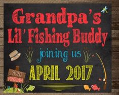 Pregnancy announcement chalkboard pregnancy Pregnancy announcement, chalkboard pregnancy announcement, Daddy's little fishing buddy, pregnancy reveal, fishing pregnancy announcement Baby Announcement Shoes, Grandparent Pregnancy Announcement, Gender Reveal Gifts, Gender Reveal Party Decorations, Maternity Photo Props, Birthday Chalkboard, New Baby Products, Fishing, Chalkboard Pregnancy