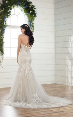Shimmering Fit-and-Flare with Lace -