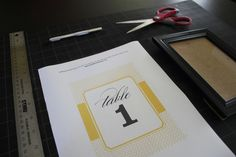 Printable Table Numbers | Elegance & Enchantment