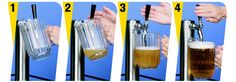 Instructions how to pour with a pitcher