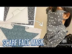 Scarf Face Mask/ DIY Face Mask at Home/ Schal Gesichtsmaske selber nähen/ coudre un masque - facemask Easy Face Masks, Diy Face Mask, Sewing Patterns Free, Free Pattern, Free Sewing, Diy Masque, Pocket Pattern, Sewing Projects, Sewing Hacks