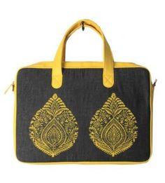 Laptop Yellow Leaf Bag