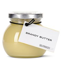 a of food ~ selfridges brandy butter Simple Packaging, Pretty Packaging, Product Packaging, Mistletoe And Wine, Butter, Food Displays, Looks Yummy, Christmas Past, Dessert Recipes