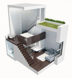 Así se convierte una minúscula buhardilla de 40 m2 en un amplio ático de lujo (fotos)