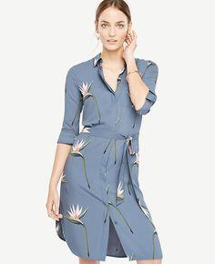 ed68b8183c4 Image of Tropical Shirt Dress Long Sleeve Shirt Dress