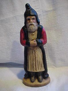 Old World Santa Claus Folk Art Christmas figurine from Antique Chocolate Mold
