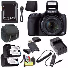 Introducing Canon PowerShot SX530 HS Digital Camera Black International Model No Warranty  NB6L Battery  External Charger  64GB SDXC Card  Case  Mini HDMI Cable  Card Reader Saver Bundle. Great Product and follow us to get more updates!
