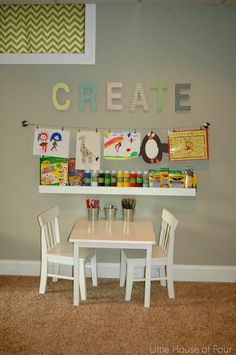 Little House of Four: Organized Art Space for Kids