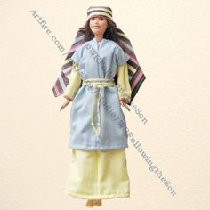Biblical Noahs Wife Blue and Yellow Dress Barbie Fashion Doll Outfit | WRFollowingtheSon