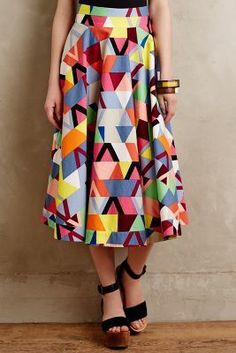Plenty by Tracy Reese Geoprism Skirt #anthrofave