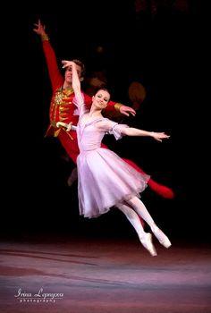 Nina Kaptsova as Marie with Andrei Bolotin as the Nutcracker Prince in Act 1 of the Bolshoi's Nutcracker. Photo (c) Irina Lepnyova.