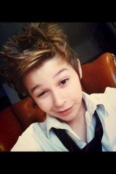 His hair!