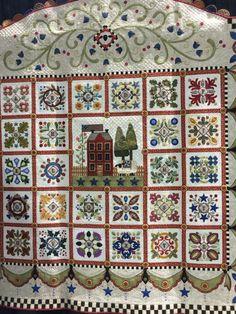 Appliqué Quilts, Sampler Quilts, Applique Patterns, Quilt Patterns, Medallion Quilt, Wool Embroidery, Quilt Border, Alphabet Soup, English Paper Piecing