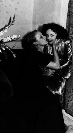 Marlene Dietrich and Edith Piaf, 1940s.