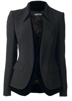 Blazer Alfaiataria com gola em pé inteiriça – DIY – molde, corte e costura – Marlene Mukai Look Blazer, Blazer Jacket, Blazer Dress, Casual Blazer, Leather Jacket, Diy Vetement, Vetement Fashion, Mode Outfits, Dress Outfits