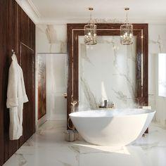 Penthouse modern de lux - Creativ-Interior Bathroom Vanity Decor, Diy Bathroom Decor, Bathroom Interior, Bathroom Inspiration Colors, Bathroom Vanity Makeover, Bathrooms Remodel, Bathroom Makeover, Bathroom Wall Panels, Small Apartment Bathroom