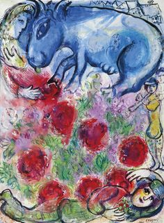Marc Chagall (1887-1985) Paysan allongé signed 'Marc Chagall' (lower right) gouache and pastel on Japan paper 30 x 22 3/8 in. (76.2 x 56.9 cm.) Executed in 1964