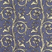 Blue Dappled Garland Print Italian Paper ~ Carta Varese Italy