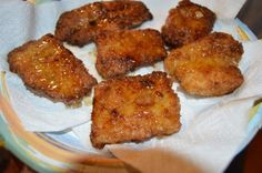 HONEY FRIED WALLEYE | Probably THE best fish recipe ever. Works on all great freshwater fish, but works best on mild fish like walleye. Use honey in the egg batter, and drizzle with honey after fried. Try it!