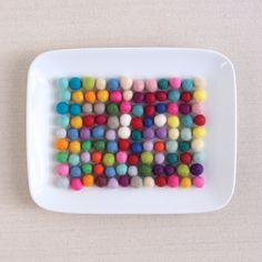 Felt Pom-Poms  // 100 1cm Felt Balls by Benzie by BenzieDesign