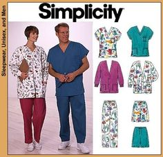 Simplicity 8088 from Simplicity patterns is a Scrubs & Jacket sewing pattern