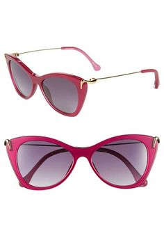 Nordstrom Anniversary Sale, July 2013, Elizabeth and James,'Fillmore' 52mm Cat's Eye Sunglasses, Magenta/Shiny Pearl, Sale: $129.90, After Sale: $195.00 Item #665903