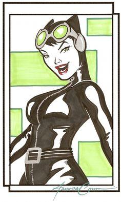 Amanda Conner - Catwoman Comic Art