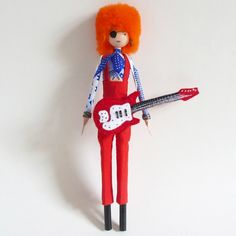 David Bowie Rebel Rebel Art-Pop handgemaakt OOAK van gamuza op Etsy