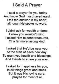 I said a prayer for you. Prayer For Love, Say A Prayer, Prayer Scriptures, Bible Prayers, Faith Prayer, Prayer Quotes, Faith Quotes, Spiritual Quotes, Bible Quotes