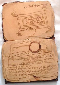 Ancient Arabic Manuscript Occult Numerology Magic in Handmade Leather Pouch | eBay