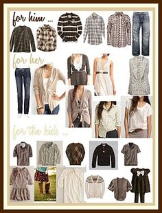Clients always ask me what to wear for pictures. Here are some helpful hints.