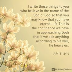 Uplifting and inspiring prayer, scripture, poems & more! Discover prayers by topics, find daily prayers for meditation or submit your online prayer request. 1 John 5 13, Online Prayer, Bible Verse Art, Bible Quotes, Bible Scriptures, Christ In Me, Life Is A Gift, Mother Birthday, Power Of Prayer