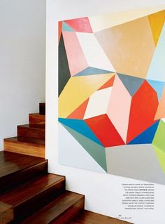 """Artist Stephen Ormandy, Vogue Living Australia... Amazing use of color, shape, and tone, I like the way the use of shape gives various ""levels"" to his work."" Emerson Wilde"