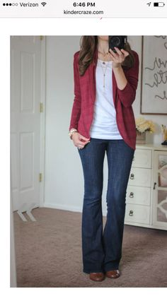Cardigan and jeans, love them both