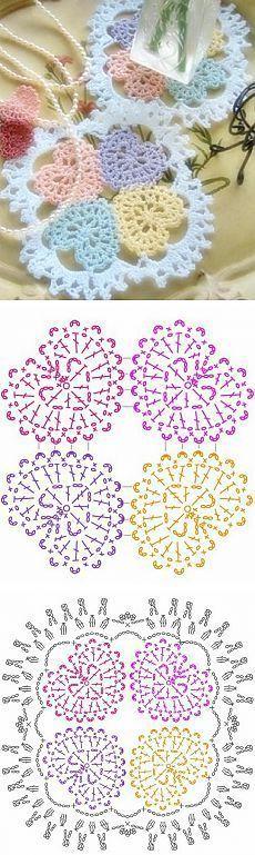 Transcendent Crochet a Solid Granny Square Ideas. Inconceivable Crochet a Solid Granny Square Ideas. Crochet Diagram, Crochet Chart, Crochet Motif, Crochet Doilies, Crochet Blocks, Crochet Squares, Crochet Granny, Granny Squares, Heart Granny Square